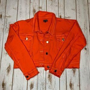 Pretty Little Thing Neon Orange Denim Jacket